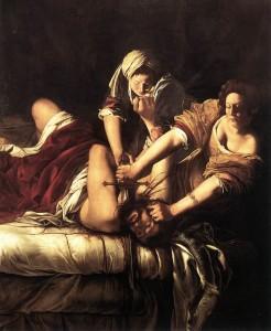 「ホロフェルネスの首を斬るユディト」アルテミジア・ジェンティレスキ